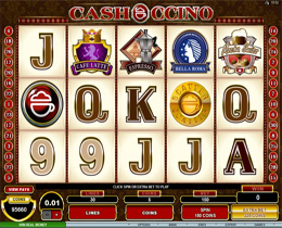 Screenshot of Cashoccino Microgaming Slot