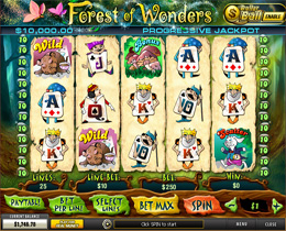 Forest of Wonders Main Screen