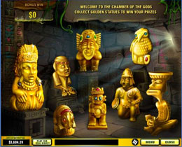 Azteca Bonus Game Screen