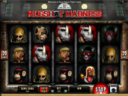 Screenshot of Mugshot Madness Microgaming Slot