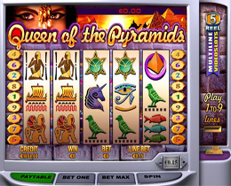 Queen Of The Pyramids Slot Main Screenshot