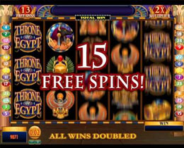 Free Spins Screenshot of Throne Of Egypt Microgaming Slot