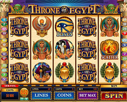 Screenshot of Throne Of Egypt Microgaming Slot