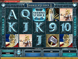 Screenshot of Thunderstruck 2 Microgaming Slot