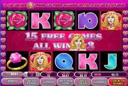 Screenshot of True Love Microgaming Slot